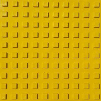 Тактильная тротуарная плитка 500x500x50 с квадратными рифами желтая